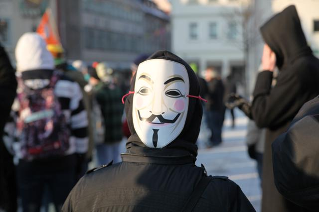 Image for Anonymous at stopACTA demonstration in Ulm