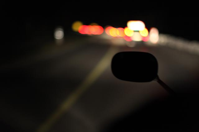 Image for Motorcycle drive at night (Bokeh)